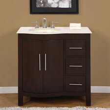 "<strong>Silkroad Exclusive</strong> Kimberly 36"" Single Sink Bathroom Vanity Set"