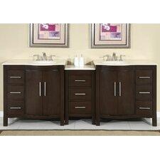 """Kimberly 89"""" Double Sink Bathroom Vanity Set"""