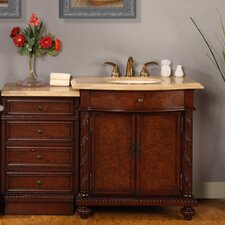 "Victoria 52"" Single Sink Bathroom Vanity Set"