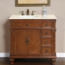 "<strong>Silkroad Exclusive</strong> Esther 36"" Single Sink Bathroom Vanity Set"