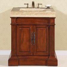"<strong>Silkroad Exclusive</strong> Stanton 33"" Single Sink Bathroom Vanity Set"