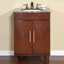 "<strong>Silkroad Exclusive</strong> Cambridge 26"" Single Sink Bathroom Vanity Set"