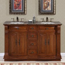"Monica 55"" Double Sink Bathroom Vanity Set"