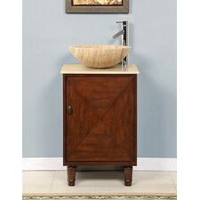 "<strong>Silkroad Exclusive</strong> Chloe 20"" Single Sink Bathroom Vanity Set"
