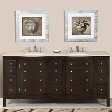 "Prima 72"" Double Sink Bathroom Vanity Set"