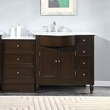 "Kelston 58"" Single Sink Cabinet Bathroom Vanity Set"
