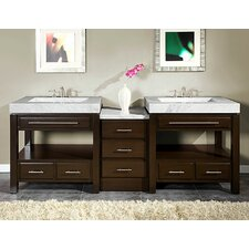 "Stanton 92"" Double Sink Cabinet Bathroom Vanity Set"