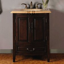 "<strong>Silkroad Exclusive</strong> Evelyn 27"" Single Sink Bathroom Vanity Set"
