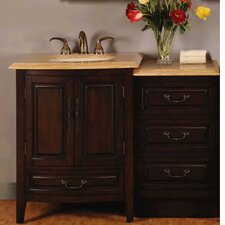 "Evelyn 46.5"" Single Sink Bathroom Vanity Set"