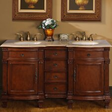 "<strong>Silkroad Exclusive</strong> Blair 60"" Double Bathroom Vanity Set"