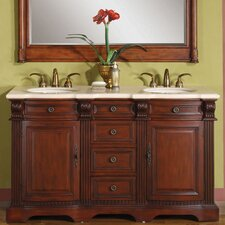"Olivia 58"" Double Sink Bathroom Vanity Set"