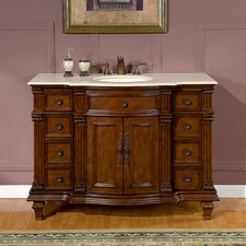 "<strong>Silkroad Exclusive</strong> Esther 48"" Single Bathroom Vanity Set"
