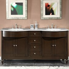 "Kelston 72"" Double Sink Cabinet Bathroom Vanity Set"