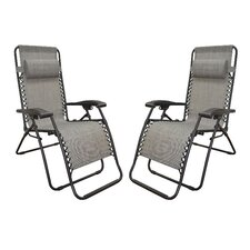 Infinity Zero Gravity Chair in Grey (Set of 2)