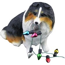 Tri Shetland Sheepdog Christmas Ornament