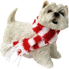White West Highland Terrier Christmas Ornament