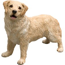 Mid Size Light Golden Retriever Sculpture