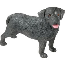 Mid Size Labrador Retriever Sculpture in Black