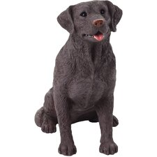 Mid Size Labrador Retriever Sculpture in Chocolate