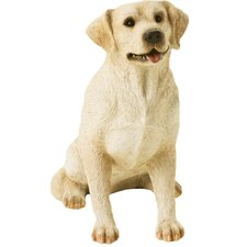Mid Size Sitting Labrador Retriever Sculpture in Yellow