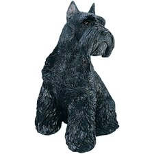 Mid Size Schnauzer Sculpture in Black