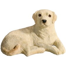 Mid Size Curious Labrador Retriever Sculpture in Yellow