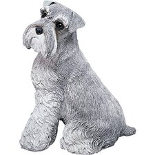 Original Size Schnauzer Sculpture in Gray