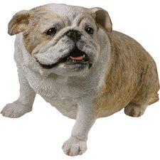 <strong>Sandicast</strong> Original Size Sculptures Sitting Bulldog Figurine