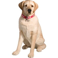 Life Size Large Labrador Retriever Sculpture in Yellow
