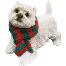Standing West Highland Terrier Christmas Ornament