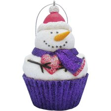 Frosty Cupcake Christmas Tree Ornament