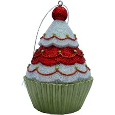Tree Top Cupcake Christmas Tree Ornament