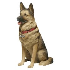 Life Size Large German Shepherd Sculpture