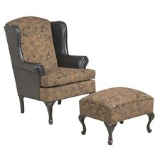 Wing Back Chair and Ottoman