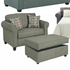 <strong>Serta Upholstery</strong> Cuddler Chair and Ottoman