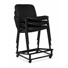 Armless Stacking Chair with Chrome Frame (Set of 2)