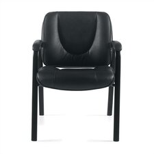 <strong>Offices To Go</strong> Leather Guest Chair with Coated Frame