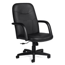 Luxhide High-Back Leather Pneumatic Tilter Managerial Chair