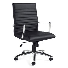 Luxhide High-Back Leather Pneumatic Tilter Executive Chair