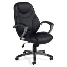 High-Back Luxhide Executive Tilter Office Chair