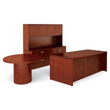 <strong>Offices To Go</strong> Ventnor Standard Desk Office Suite with Round Table