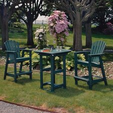 <strong>Seaside Casual</strong> Portsmouth 3 Piece Bar Height Dining Set