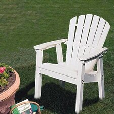 <strong>Seaside Casual</strong> Adirondack Shell Back Deck Chair - EnviroWood