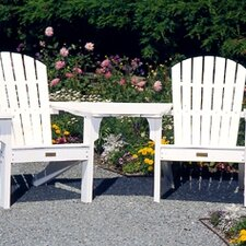 <strong>Seaside Casual</strong> Adirondack Tete-a-Tete Attachment Bistro Table
