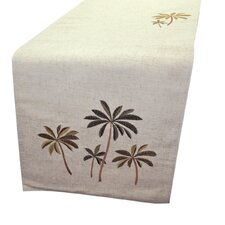 Palm Trees Embroidered Table Runner