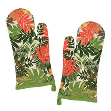 Palm Paradise Print Oven Mitt (Set of 2)