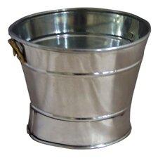 Round Tin Planter