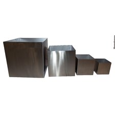4 Piece Cube Planter Set