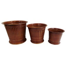 3 Piece Round Column Planter Set