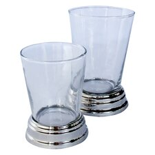 Glass/Nickel Tumbler (Set of 6)